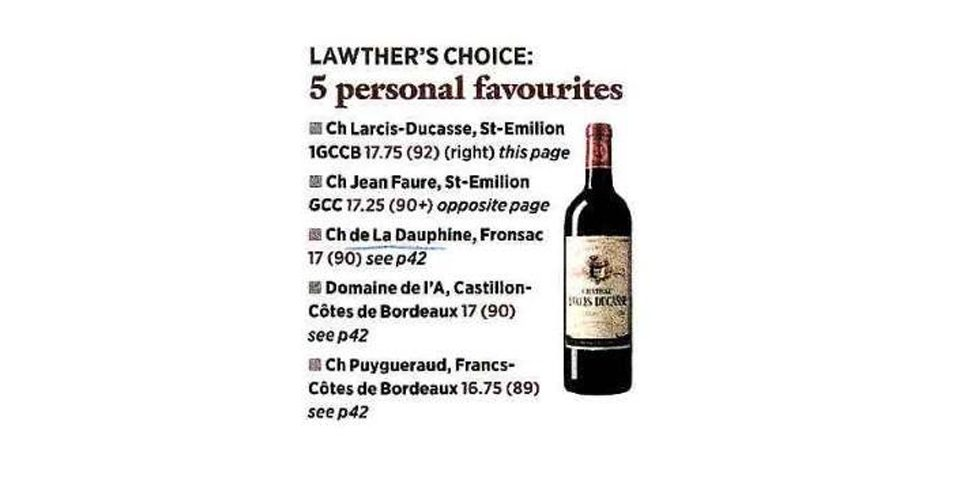 James Lawther's favorite top 5 wines